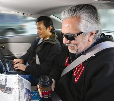 Commuters carpooling